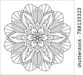flower mandala vector... | Shutterstock .eps vector #788135323