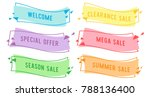 special offer sale flat linear... | Shutterstock .eps vector #788136400
