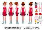lacrosse girl. catch the ball....   Shutterstock . vector #788137498