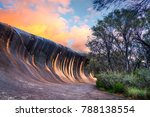Sunset At Wave Rock Near The...