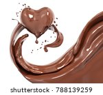 splash chocolate abstract... | Shutterstock . vector #788139259