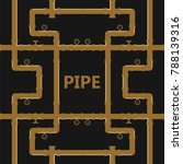 pipe fittings vector icons set. ... | Shutterstock .eps vector #788139316