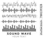 sound waves vector. sound waves ... | Shutterstock .eps vector #788139328