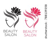 beautiful woman logo template... | Shutterstock .eps vector #788139358