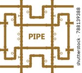 pipe fittings vector icons set. ... | Shutterstock .eps vector #788139388