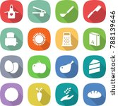 flat vector icon set   apron... | Shutterstock .eps vector #788139646