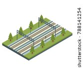 isometric railway section with... | Shutterstock .eps vector #788141254