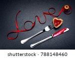 inscription  word love of red... | Shutterstock . vector #788148460
