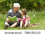 grandfather and granddaughter... | Shutterstock . vector #788150110