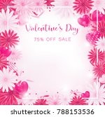 valentine floral invitation is... | Shutterstock .eps vector #788153536