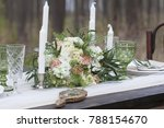 a bouquet of flowers on a...   Shutterstock . vector #788154670