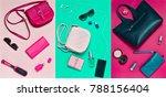 women's accessories  handbags ... | Shutterstock . vector #788156404