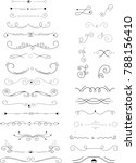 collection of handdrawn... | Shutterstock .eps vector #788156410