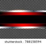 3d background red metalic ... | Shutterstock .eps vector #788158594