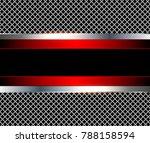 3d background red metalic ... | Shutterstock .eps vector #788158594