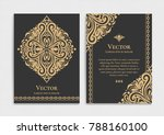 gold vintage greeting card on a ... | Shutterstock .eps vector #788160100