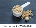 protein powder scoop and spill... | Shutterstock . vector #788161846