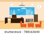 office design interior on table ... | Shutterstock .eps vector #788163640