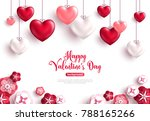 happy saint valentine's day... | Shutterstock .eps vector #788165266