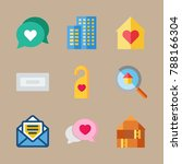 icon set about travel with... | Shutterstock .eps vector #788166304