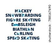 winter sports titles from... | Shutterstock .eps vector #788167690