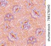 floral seamless pattern.... | Shutterstock .eps vector #788178340