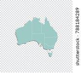 australia map   high detailed... | Shutterstock .eps vector #788184289
