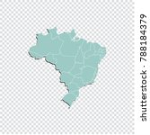 brazil map   high detailed... | Shutterstock .eps vector #788184379