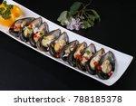 steamed scallops  shrimp | Shutterstock . vector #788185378