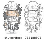 chef cartoon character soft... | Shutterstock .eps vector #788188978