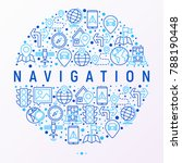 navigation and direction... | Shutterstock .eps vector #788190448