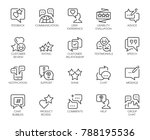 review line icons. big set of... | Shutterstock .eps vector #788195536