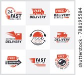 set of delivery labels for... | Shutterstock .eps vector #788195584