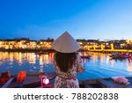 woman tourist is sightseeing at ... | Shutterstock . vector #788202838
