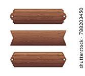 set of various wooden banners.... | Shutterstock . vector #788203450