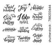 typography hand writing set.... | Shutterstock . vector #788203666