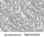 vector damask seamless pattern... | Shutterstock .eps vector #788204590