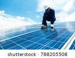 engineer team working on... | Shutterstock . vector #788205508