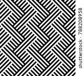 seamless pattern with striped... | Shutterstock .eps vector #788208958
