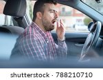 bored and tired yawning man... | Shutterstock . vector #788210710