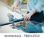 man finding a ticket fine... | Shutterstock . vector #788212513