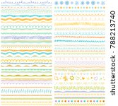 brush strokes  lines collection.... | Shutterstock .eps vector #788213740