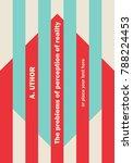 book cover creative concept.... | Shutterstock .eps vector #788224453