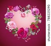 heart of flowers. valentine's... | Shutterstock .eps vector #788225290
