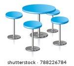 big disk shape pale grey... | Shutterstock .eps vector #788226784