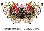 tribal eagle butterfly floral... | Shutterstock .eps vector #788228299