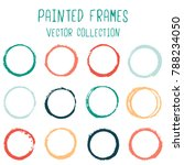 round paint brush stroke vector ... | Shutterstock .eps vector #788234050