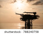 offshore construction platform... | Shutterstock . vector #788240758