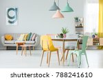 modern colorful chairs at... | Shutterstock . vector #788241610
