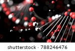 abstract futuristic dna... | Shutterstock . vector #788246476